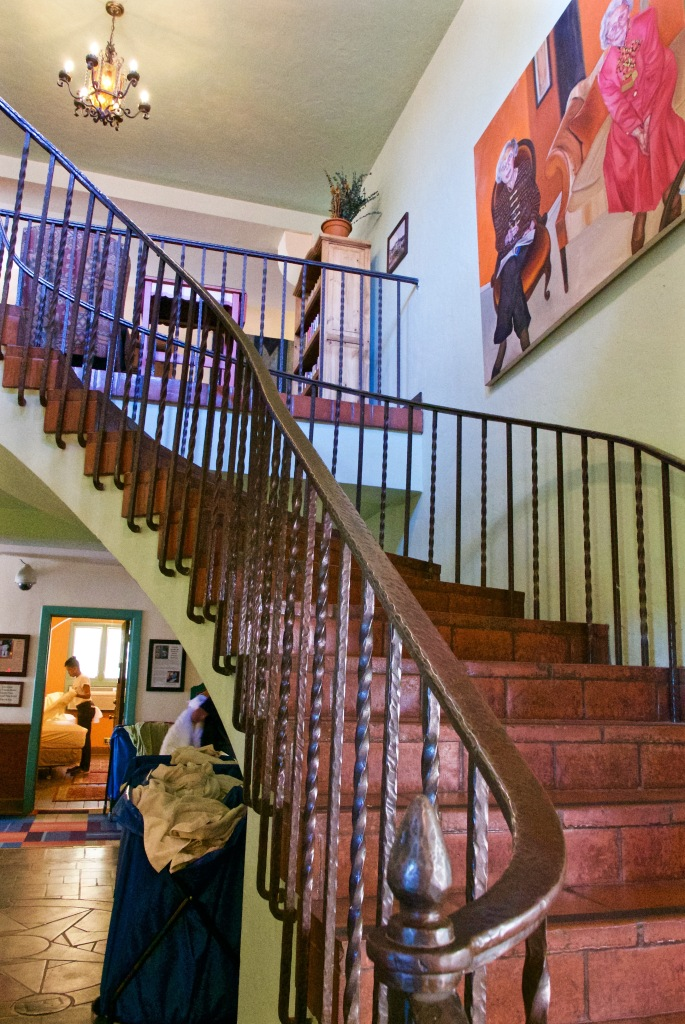 Stairway to second floor in La Posada Hotel